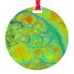 The Green Earth Abstract Round Ornament