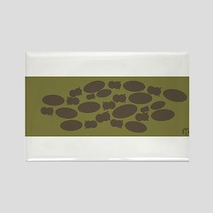 Hippos Rectangle Magnet