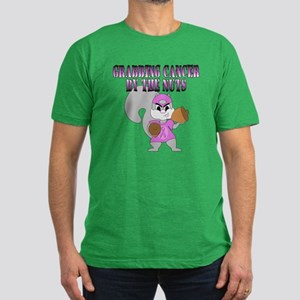 Grabbing cancer by the nuts Men's Fitted T-Shirt (