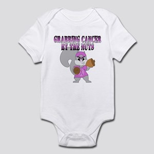 Grabbing cancer by the nuts Infant Bodysuit