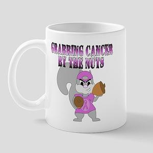 Grabbing cancer by the nuts Mug