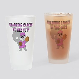 Grabbing cancer by the nuts Drinking Glass
