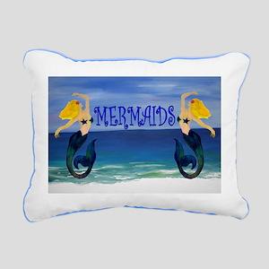 Mermaids Rectangular Canvas Pillow