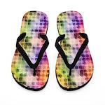 Rainbow Dimensional Abstract Flip Flops