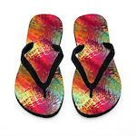 Rainbow Glass Threads Abstract Flip Flops