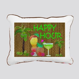 Tropical Drinks Rectangular Canvas Pillow