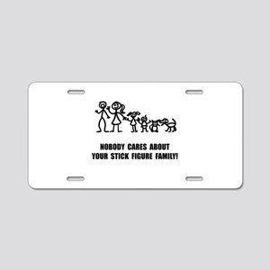 Anti Stick Figure Family Aluminum License Plate