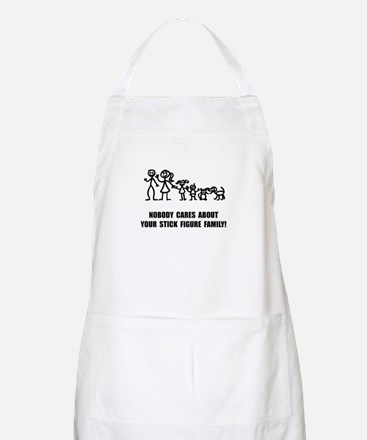 Anti Stick Figure Family Apron