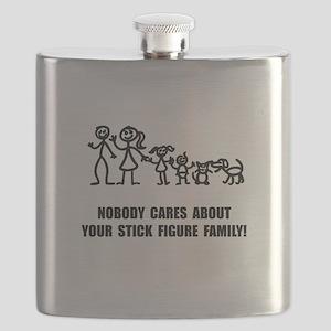 Anti Stick Figure Family Flask
