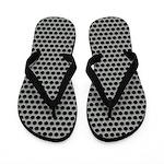 Silvery Metal Mesh Flip Flops