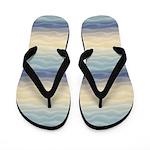 Soft Blue Sand Dunes Abstract Flip Flops