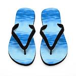 Steam on Calm Blue Water Flip Flops