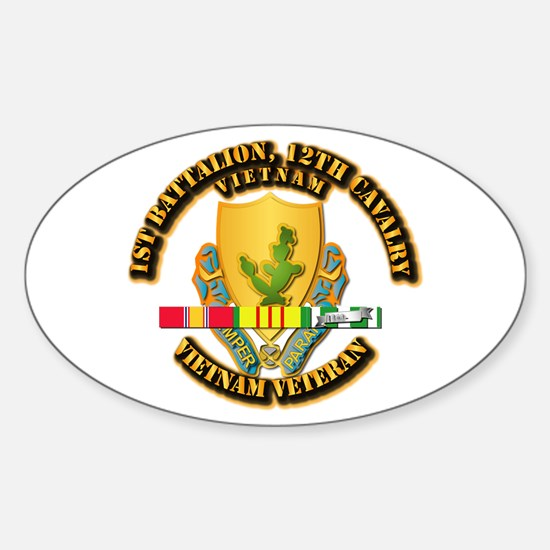 Army - 1-12th CAV w Vietnam SVC Ribbons Decal