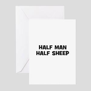 Half Man~Half Sheep Greeting Cards (Pk of 10)