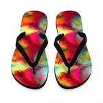 Tempered Rainbow Glass Flip Flops