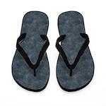Used Blue Denim Flip Flops