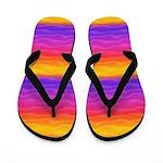 Vibrant Rainbow Sand Dunes Flip Flops