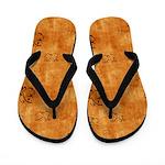 Vintage Butterflies on Orange Flip Flops
