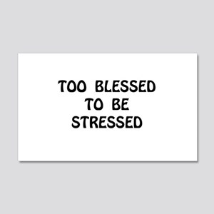 Blessed Stressed Wall Decal