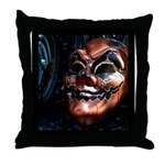 Masked in Color - Digital Photography Throw Pillow