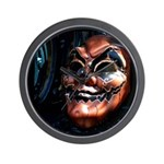 Masked in Color - Digital Photography Wall Clock