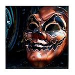 Masked in Color - Digital Photography Tile Coaster