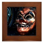 Masked in Color - Digital Photography Framed Tile