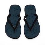 Well Loved Industrial Blue Flip Flops