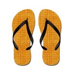 Yellow Diamond Pattern Flip Flops