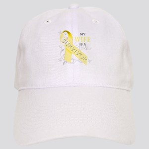 My Wife is a Survivor (yellow) Baseball Cap