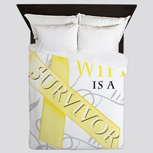 My Wife is a Survivor (yellow) Queen Duvet