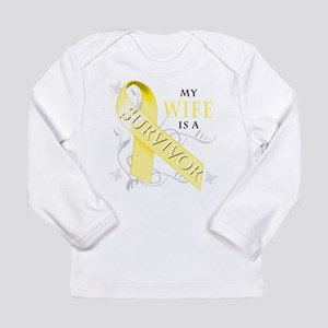 My Wife is a Survivor (yellow) Long Sleeve T-Shirt