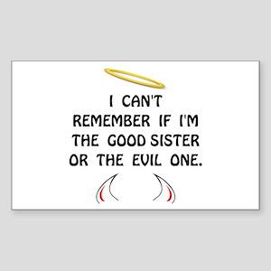 Good Evil Sister Sticker