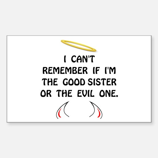 Good Evil Sister Decal