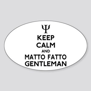 Matto Fatto Gentleman Sticker (Oval)