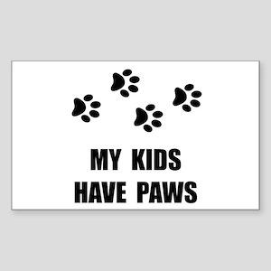 Kids Paws Sticker