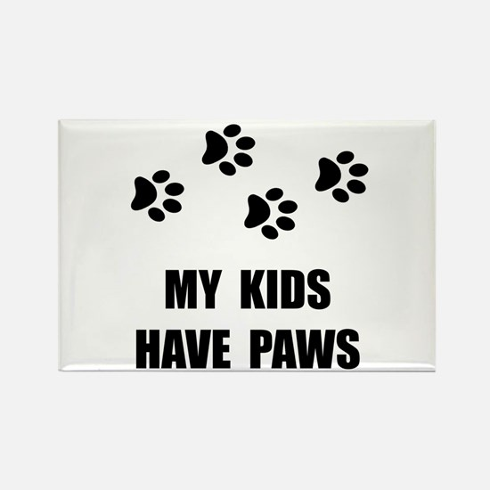 Kids Paws Rectangle Magnet (10 pack)