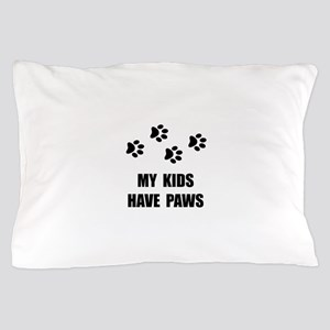 Kids Paws Pillow Case