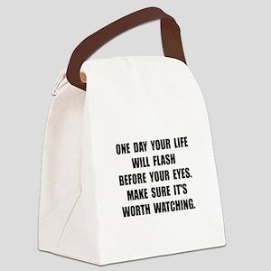 Life Flash Canvas Lunch Bag