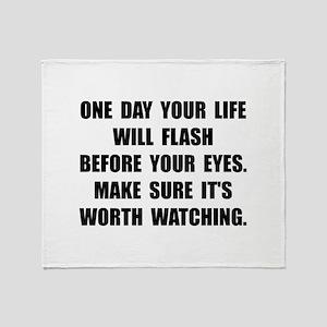Life Flash Throw Blanket