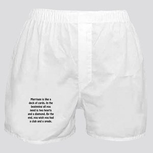 Marriage Cards Boxer Shorts