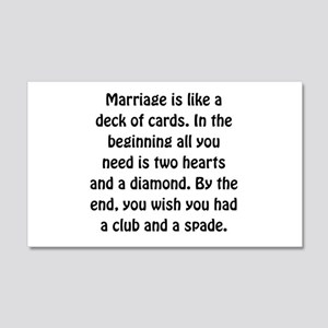 Marriage Cards Wall Decal