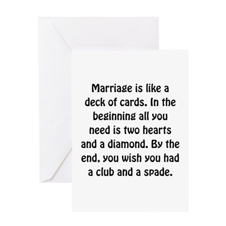 Marriage Cards Greeting Card
