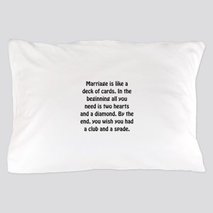 Marriage Cards Pillow Case
