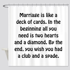 Marriage Cards Shower Curtain