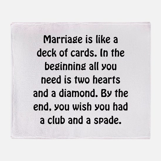 Marriage Cards Throw Blanket