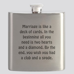 Marriage Cards Flask