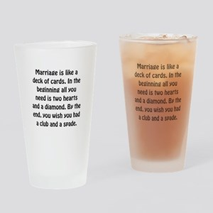 Marriage Cards Drinking Glass