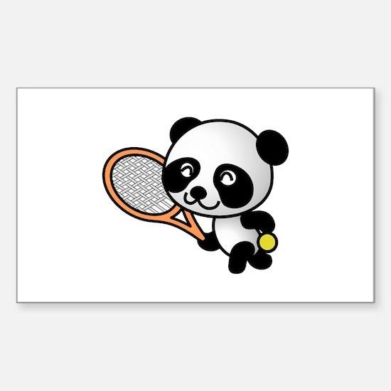 Tennis Panda Decal