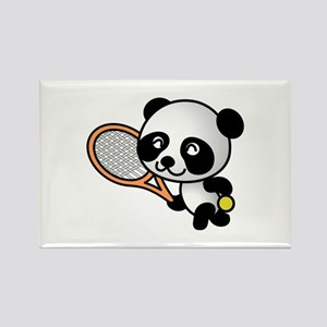 Tennis Panda Rectangle Magnet (10 pack)